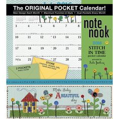 Stitch in Time Pocket 2016 Wall Calendar