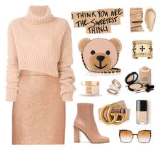 """You Make Me Blush-Featured 11/22/17 How to dress Thanksgiving"" by neverboring ❤ liked on Polyvore featuring Valentino, Carven, Gucci, Paul & Pitü Naturally, Bobbi Brown Cosmetics, Armani Privé, Ann Demeulemeester, Moschino, Fendi and Aurélie Bidermann"