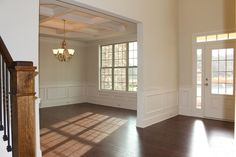 The wainscoting looks great!