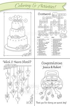 Fun coloring pages wedding coloring book kids wedding favors by free printable coloring pages for kids Kids Wedding Favors, Kids Table Wedding, Wedding With Kids, Wedding Groom, Diy Wedding, Wedding Gifts, Dream Wedding, Wedding Day, Wedding Disney
