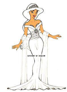 Disney Princess Wedding Dresses: Jasmine by ~lulu-ibeh on deviantART