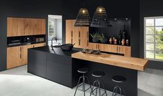The 37 best black kitchens kitchen trends you need to see 7 Luxury Kitchen Design, Kitchen Room Design, Kitchen Cabinet Design, Luxury Kitchens, Home Decor Kitchen, Interior Design Kitchen, Kitchen Layout, Kitchen Designs, Kitchen Ideas