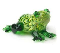 Fitz and Floyd Glass Menagerie Frog Figurine Glass Frog, My Glass, Frog Art, Cute Frogs, Glass Figurines, Frog And Toad, Glass Animals, Beaded Animals, Hand Blown Glass