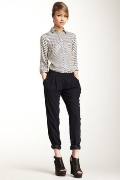 L.A.M.B. Solid Silk Pant