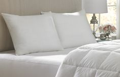 Pillows and a blanket for your bed. We provide the mattress cover!