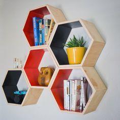 BrightNest   Trend Spotting for 2013: Geometric Shapes -hex shelves