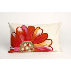 Trans-Ocean Imports 7SC1S314917 Visions Iii Collection Orange Finish Pillow