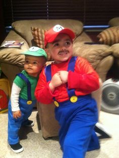 Boys Handmade Mario & Luigi Costume