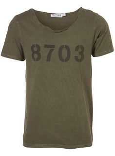 khaki stencil scoop t-shirt