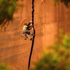 "La Sportiva on Instagram: """"Serrator Crack"" (5.11a/b) in Indian Creek. What's your favorite Indian Creek route? Photo: @sammzamm #lasportivana #lasportiva #climbing"""