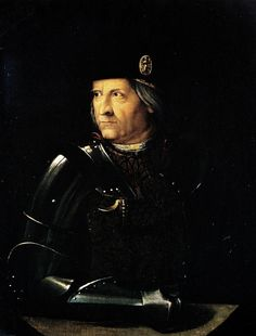 ERCOLE I d Este(1431-1505) son of  Nicolò III and Ricciarda da Saluzzo.He was educated at the Neapolitan court of Alfonso, king of Aragon and Naples, Ercole married Eleonora d'Aragona, daughter of Ferdinand I of Naples, in 1473. The Este alliance with Naples was to prove a powerful one.