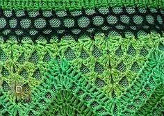 Patrones y moldes para tejer vestido largo de dama con punto zig zag y hermosa combinación de colores