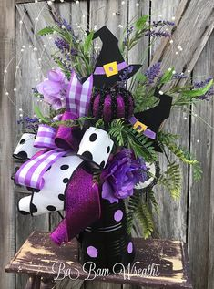 Halloween Centerpiece, Reserved for Cary Thank you