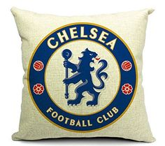 East Melody Cotton Linen Square Decorative Throw Pillow Cover Cushion Case Pillow Case 18 X 18 Inches  45 X 45 cm Football Club Badge Chelsea ** Be sure to check out this awesome product.