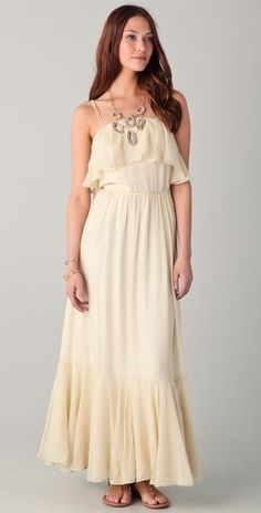 Beyond Vintage Ruffle Maxi Dress   $113.70