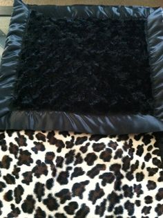 Cheetah Print Black Swirl Baby Blanket with by MyPersoNathalie, $30.00  this is the bedding I want . Simple and cute not over dewing it on cheetah