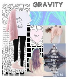 """""Gravity"" by Shawn McDonald"" by anadoribeljimenez ❤ liked on Polyvore featuring Max Studio, Nly Shoes, Chicnova Fashion, Pink, cats and gravity"