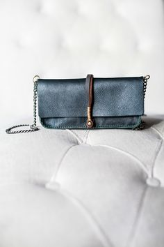 Jo for Mavenhaus Collective Dakota Clutch/Wallet in Midnight Green #mavenhauscollective #slowfashion