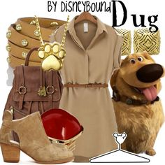 This Doug outfit, SQUIRREL! | Disney Fashion | Disney Fashion Outfits | Disney Outfits | Disney Outfits Ideas | Disneybound Outfits | Up! Outfit |