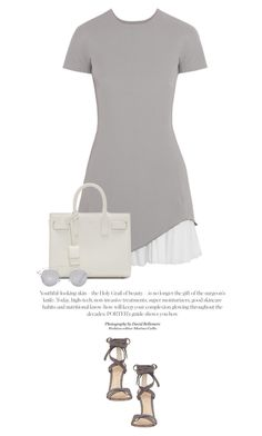 """""""Summer Grey #2"""" by anja-173 ❤ liked on Polyvore featuring Victoria Beckham, Gianvito Rossi, Yves Saint Laurent and Christian Dior"""