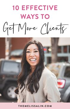 "Today, we are going to dig into ten effective ways to get more clients. One of the biggest questions I get is, ""Where are all these clients, how are they always coming your way?"" #getmoreclients #business #businesscoach #marketing #onlinebusiness #entrepreneur #femaleentrepreneur #ladyboss"