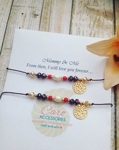 Set se pulseras hermanas.Set of 2-Sisters by CaroAccessories
