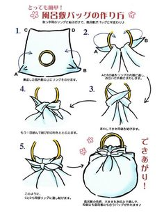 FUROSHIKI BAG PICTURE TUTORIAL
