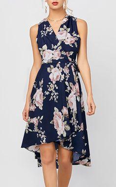 High Low Floral Sleeveless Dress