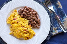 Delightfully delicious and easy scrambled eggs made with farm fresh eggs, roasted New Mexico red chile, and a Mexican Cotija cheese. Fresh Chicken, Chicken Eggs, Egg Roast, Best Egg Laying Chickens, Cotija Cheese, Scrambled Eggs, Chickens Backyard, Chile, Macaroni And Cheese