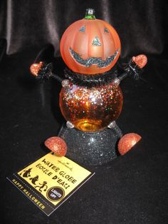 hallmark halloween lighted jack o lantern water globe waterglobe - Hallmark Halloween Decorations