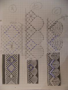 A Bobbin Lace Lover: Como dibujar un patron / How to draw a pattern