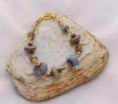 Classic Lamp Glass Bracelet in Denim and by OnlyOneJewelryDesign, $40.00 A Special Bracelet for a Special Person