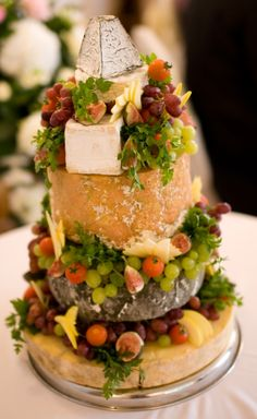 cheese tower instead of wedding cake ... yes please!!!!!!!!!