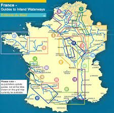 Billedresultat for map of french canals and waterways