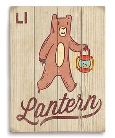 This L Is for Lantern Wall Art by Image Canvas is perfect! #zulilyfinds