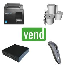 Vend POS Hardware Bundle with Star TSP143IIILAN Ethernet Receipt Printer and Socket Barcode scanner compatible with Vend POS Software. iPad Compatible with Vend Application.   The Bundle Includes:  1 x Star TSP143III LAN Receipt Printer  1 x Cash Drawer with 5 Notes & 8 Coins  1 x Socket Bluetooth Barcode Scanner  1 x Box of 80x80 Thermal Paper Rolls Android Windows, Ipad Stand, Point Of Sale, Ergonomic Mouse, Pos, Computer Mouse, Printer, Drawer, Bluetooth
