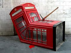 Banksy's Telephone Booth