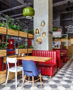 """Cafe in the style of """"Soviet past"""" in Krasnodar"""