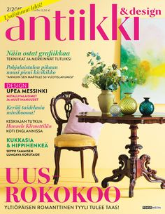 Magazine Cover Antiikki & Design 2/2015. Theme neorococo. Photo: Kristiina Hemminki, Fotonokka.