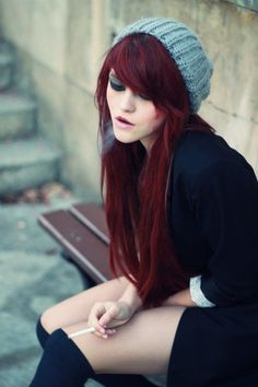 Perfect Deep Red Hair Color Inspire Hair Pinterest