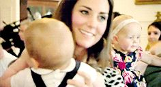 Kate and Prince George in NZ. Duchess Kate and her son Prince George.