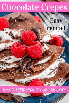 Chocolate gluten free crepes that are beautifully decadent but ridiculously easy! You'll love our simple secret to making the perfect crepes. Gluten Free Crepes, Best Gluten Free Desserts, Gluten Free Recipes For Breakfast, Gluten Free Breakfasts, Gluten Free Flour, Chocolate Crepes, Gluten Free Chocolate, Gluten Free Living, Food To Make