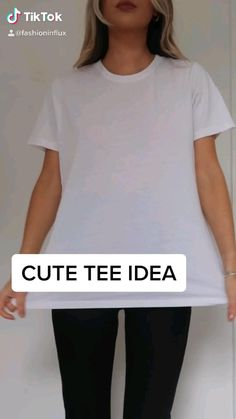 Diy Clothes Life Hacks, Diy Clothes And Shoes, Clothing Hacks, Teen Fashion Outfits, Mode Outfits, Diy Fashion Hacks, Fashion Tips, T Shirt Hacks, Diy Kleidung