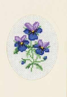 Good Life 2 Go: Permin free cross stitch chart: Viola
