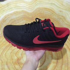 best website 2ec5e c4e8b Cheap Nike Air Max 2017 Black Red Sneakers