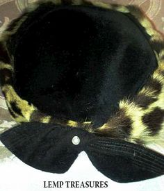 LEMP PABST EST. (LOUISE) STUNNING VINTAGE COLLECTIBLE CHEETAH & BLACK VELVET HAT. $125.00 OBO. All reasonable offers on any of our items for sale will be carefully considered. As always, we appreciate your business. Thank you. :)
