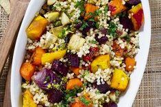 Kuskus je obilnina bohatá na bielkoviny v kombinácii so zeleninou.  Toto jedlo je výživné,obsahuje len 280 kcal.