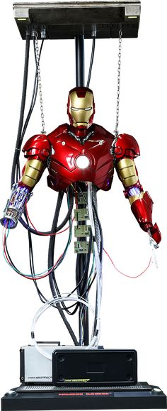 Hot Toys Iron Man Mark III Construction Version Sixth Scale Figure  $149.99  Click on picture until you get to Sideshow page to see more info, details, and to pre-order direct from Sideshow!!!