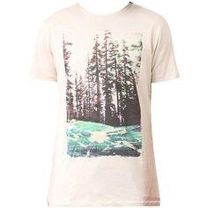 Weißes T-Shirt mit #Waldprint ab 29,95€ Hier kaufen: http://stylefru.it/s651724 #shirt #print #wald