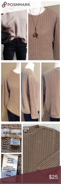 """Chunky Crew Neck Sweater Basic sweater that is so much better than basic. Wear it alone or layered, doesn't matter. This will soon become a fav pick... 100% cotton so it wears and washes perfectly. size 1X, 21"""" chest, 25"""" length. Sweaters Crew & Scoop Necks"""